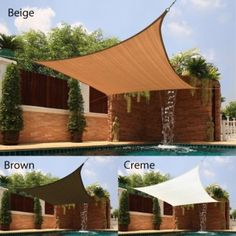 Sail sun shade is the perfect accessory for backyard picnics on hot daysPatio furniture boasts breathable fabric construction for significant temperature reduction to create your own shady oasisGarden and patio item is easy to install