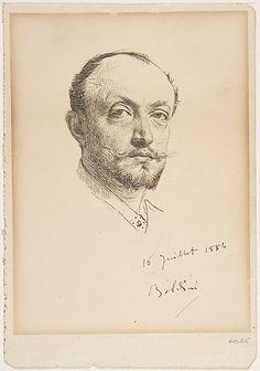 """Giovanni Boldini (Italian, 1842-1931) """"Autoritratto"""""""