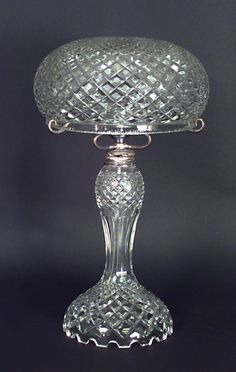English Victorian lighting table lamp crystal