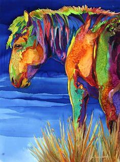 Gekleurd paard