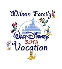 Custom Disney Family Vacation with Last Name TShirt by JTabDesigns, $12.99