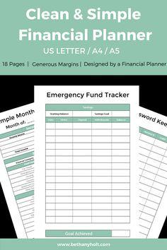 financial planner budgeting planner budget printable budget binder finance printables simple budget personal budget money binder