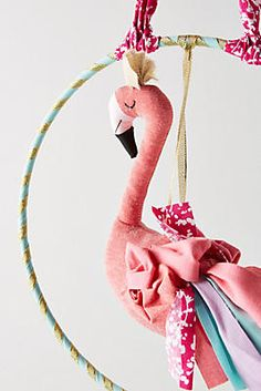 Fanciful Flamingo Wall Hanging. affiliate, kids room decor, gift for girl