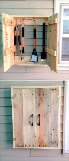 Lovely Wooden Pallets Kitchen Rack Ideas