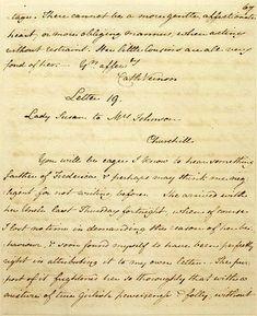 Jane Austen letter - Cassandra