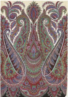 Design for a printed shawl. Paisley Patterns: A Sourcebook by Valerie Reilly