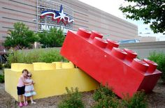 Play with Legos and go shopping? These massive Legos can be found outside of the Mall of America in Bloomington, Minnesota.