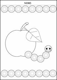 schede pregrafismo Motor Activities, Autumn Activities, Activities For Kids, Apple Theme, School Worksheets, Learning To Write, Pre Writing, Eric Carle, Play To Learn