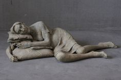 """Lotta Blokker - """"The Hour of the Wolf"""" series: Silhouette III, 2013, bronze, 40 x 143 x 82 cm"""