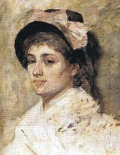 Marie Bashkirtseff - Jeune femme au noeud rose