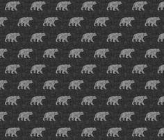 Small Bears fabric by jwitting on Spoonflower - custom fabric