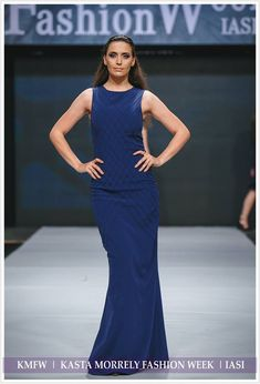 Navy long dress with unique model made of pin tucks. More details at muzacreationfactory@yahoo.com. Pin Tucks, Spring Summer 2018, Gowns, Navy, Formal Dresses, Unique, Model, Shopping, Fashion