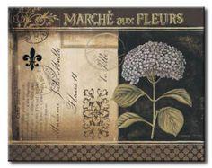POl_180_Botanique II / Cuadro Vintage con Flores