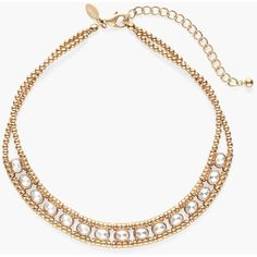 Chico's Dora Reversible Bib Necklace ($35) ❤ liked on Polyvore featuring jewelry, necklaces, gold, chicos necklaces, reverse necklace, bib necklace, plastic necklace and reversible necklace