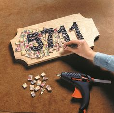 Here's how to make an address marker with mosaics.