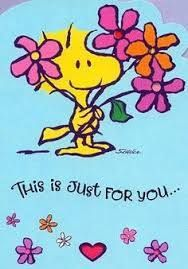 This is just for you.from Woodstock (Snoopy) Images Snoopy, Snoopy Pictures, Snoopy Und Woodstock, Snoopy Love, Snoopy Hug, Meu Amigo Charlie Brown, Charlie Brown And Snoopy, Peanuts Quotes, Snoopy Quotes