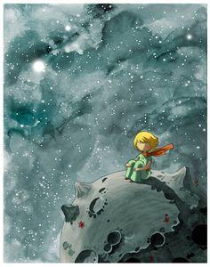 Mon hommage au Petit Prince écrit par Antoine de Saint-Exupéry, une de mes histoires préférées