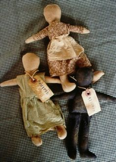 Primitive Doll Pattern Folk Art Prairie by stitchintimepatterns,