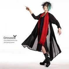 ヨウジヤマモト「Ground Y」1周年、レスリー・キーによる2016年春夏キャンペーンビジュアル   ニュース - ファッションプレス