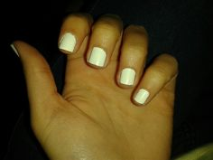 White natural nails