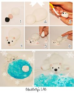 Polar Bear Tutorial for Sugar Paste or Fondant