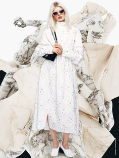 """The Digital Issue viewed by Daniel Sannwald"" with Ola Rudnicka wearing Dior, Prada, Céline p73. Photographer : Daniel Sannwald – Creative and Fashion Director : Yann Weber – Hair : Tomohiro Ohashi– Make Up : Adrien Pinault."