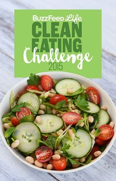 Clean Eating Diet Here's A Two-Week Clean Eating Challenge That's Actually Delicious - This is a delicious two-week meal plan that will teach you to cook and eat healthy, feel awesome, and stay that way. Just like last year's, but better. Buzzfeed Clean Eating Challenge, Healthy Eating Challenge, Comidas Light, Real Food Recipes, Cooking Recipes, Cooking Ideas, Healthy Snacks, Healthy Recipes, Eat Healthy