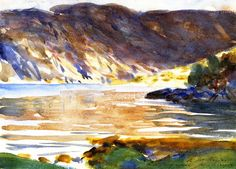 """""""Loch Moidart, Inverness-shire (2),"""" John Singer Sargent, 1896, watercolor   over pencil on paper, 9 3/4 x 13 1/2"""", private collection."""
