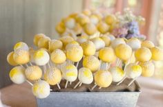 sunshine cake pops More