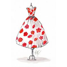 elainebiss:  #dress #drawing #illustrator #illustration #fashion #spring #feminine #girly #haute #couture
