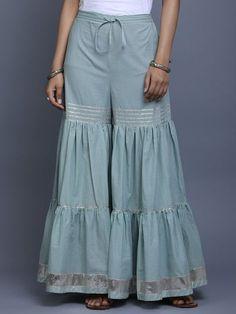 The india wear is here Gharara Designs, Salwar Designs, Kurti Neck Designs, Dress Neck Designs, Kurta Designs Women, Kurti Designs Party Wear, Blouse Designs, Dress Indian Style, Indian Outfits