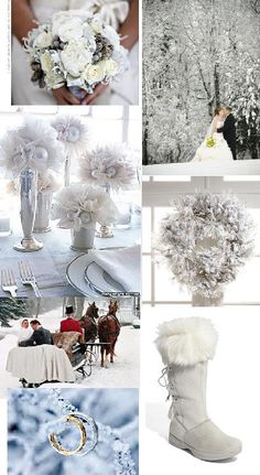 Winter White Inspiration Board