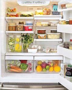 organizando a geladeira