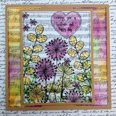 Created by Nicky for Craftwork Cards using Stamp it! Stamps, background papers and heart stencil