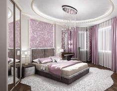 Wohnideen Schlafzimmer Modern Lila Blumen Wanddeko | Home ... Schlafzimmer Modern Lila