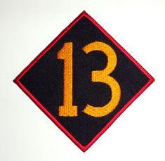 13 patch badge hot rod drag race motorcycle biker chopper tattoo diamond iron on Biker Tattoos, 13 Tattoos, Tattoo Diamond, Motorcycle Clubs, Chopper, Hot Rods, Badge, Patches, Iron