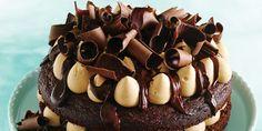 Caramel Whipped Cream Chocolate Cake