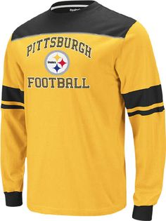 799056d81 Pittsburgh Steelers Reebok Power Sweep Long Sleeve Top  29.95