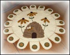 Bee skep table mat