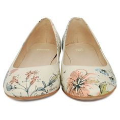 Camper Twins Floral Ballet Shoe 21478-001 ($105) ❤ liked on Polyvore featuring shoes, flats, zapatos, sapatos, women, ballerina flat shoes, camper shoes, flat shoes, skimmer flats and ballet flat shoes