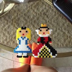 Alice and the Queen of Hearts perler beads by frankiee0201