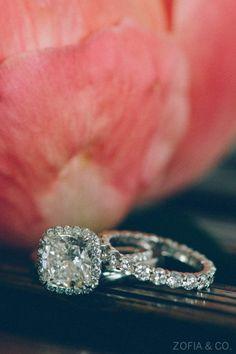 Gorgeous halo pave set ring