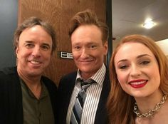 kevinnealon Me and a couple of gingers on Conan tonight. # Coco #GameOfThrones @sophieturner