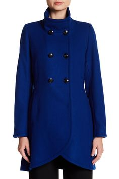 CeCe by Cynthia Steffe - Gianna Double Breasted Wool Blend Coat is now 71% off. Free Shipping on orders over $100.