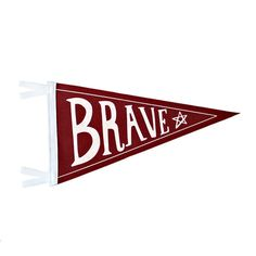 BRAVE Wool Pennant Flag – TREEHOUSE kid and craft