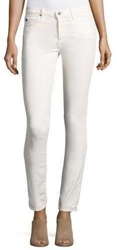 AG Adriano Goldschmied Prima Mid-Rise Cigarette Jeans, Powder White
