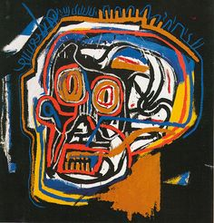 Jean-Michel Basquiat- Saw documentary about his life as an artist, I loved this image.
