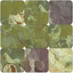 MS International Green Onyx 4 in. x 4 in. Tumbled Onyx Floor & Wall Tile-TGRNONYX44T at The Home Depot