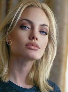 Angelina Jolie Makeup, Angelina Joile, Angelina Jolie Pictures, Angelina Jolie Photos, Angelina Jolie Blonde, Beautiful Women Pictures, Beautiful Celebrities, Beauté Blonde, Blonde Beauty