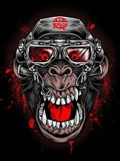 Dibujos t rex gluten free menu - Gluten Free Recipes Hannya Samurai, Dessin Old School, Eagle Wallpaper, Gorilla Tattoo, Monkey Art, Graffiti Characters, Art Optical, Photo Chat, Dope Art